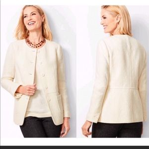 NWOT- Talbots Ivory wool solid lined jacket